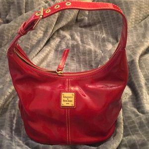 Dooney & Burke red patent leather handbag